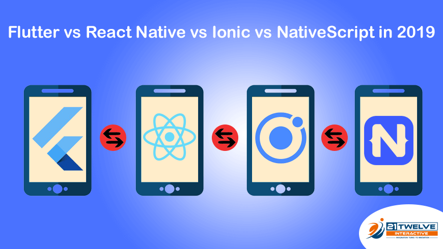 Flutter vs React Native vs Ionic vs NativeScript in 2019