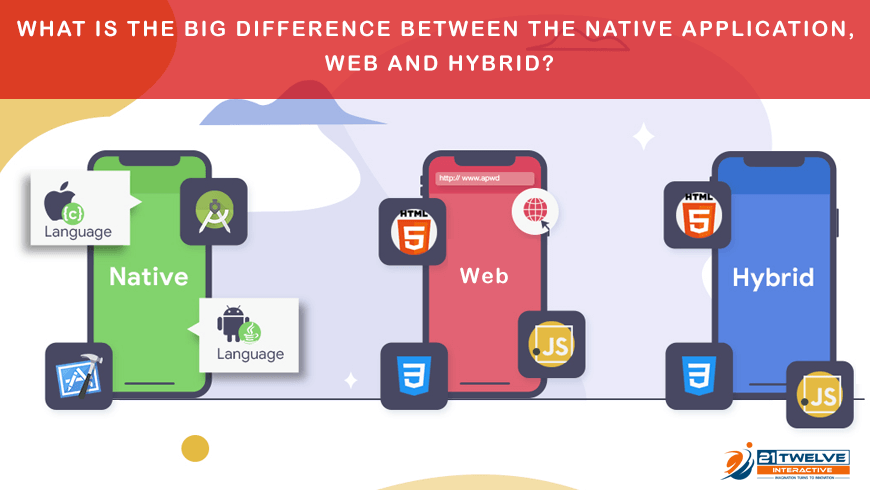 What is the big difference between the native application, Web and hybrid?