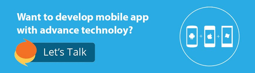 develop mobile app call to action