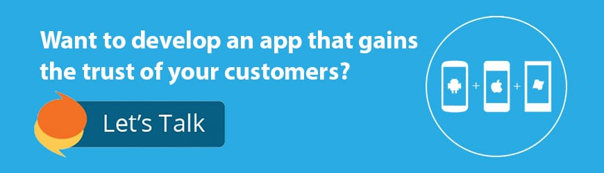 mobile app call to action
