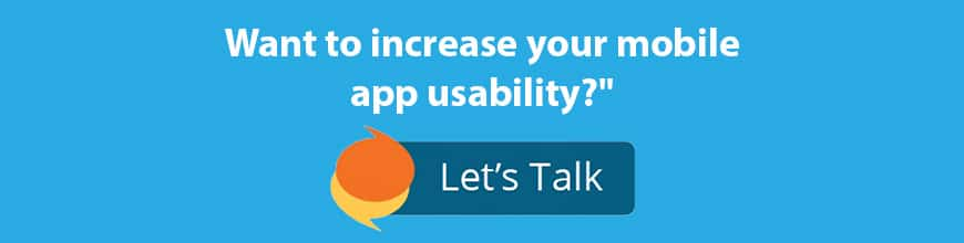 Mobile app usability call to action