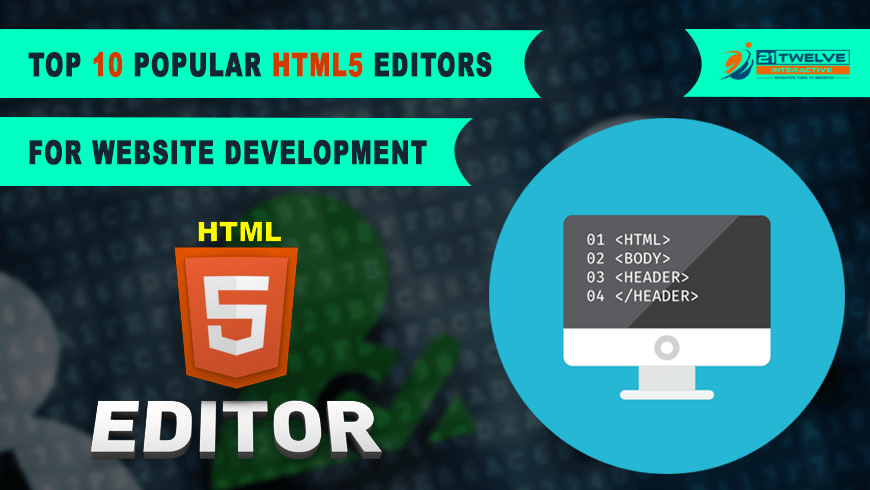 Top 10 Popular HTML5 editors for website development