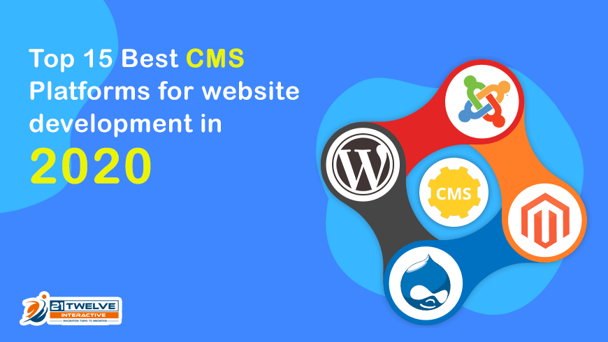 Best Web Design 2020 Best CMS Platforms for Website Development in 2020   21Twelve
