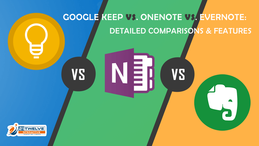 Google Keep Vs. OneNote Vs. Evernote: Detailed Comparisons & Features