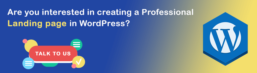 Do you want to create a Landing Page in WordPress?