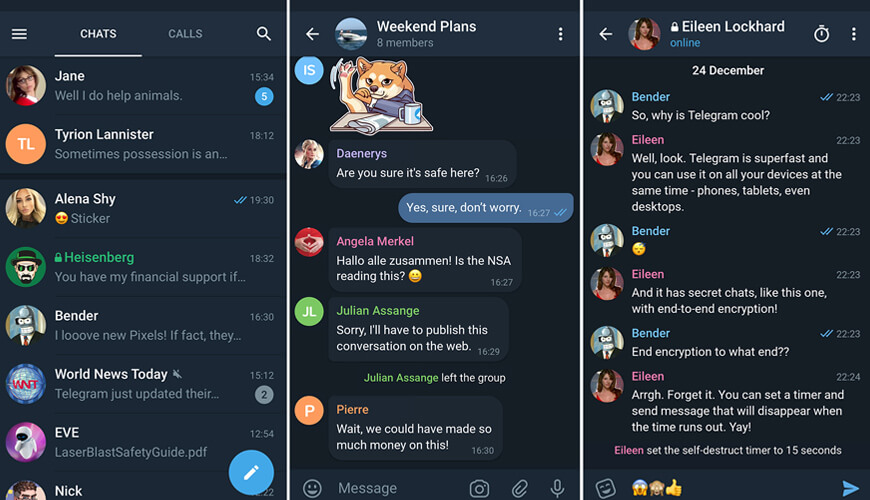 Telegram Chat Screens