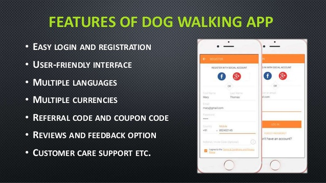 Features of On-demand Dog Walking App